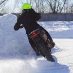 Зимние забавы на мотоциклах.