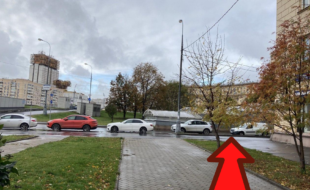 Зимняя мотоплощадка мотошколы Дзен. Ул. Орджоникидзе